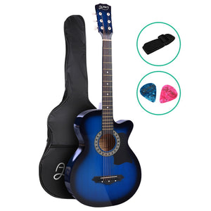 ALPHA 38 Inch Wooden Acoustic Guitar Blue