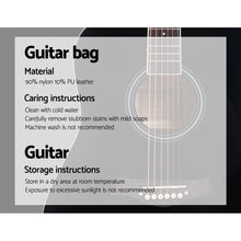 Load image into Gallery viewer, ALPHA 41 Inch Wooden Acoustic Guitar Black