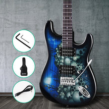 Load image into Gallery viewer, Alpha Electric Guitar Music String Instrument Rock Blue Carry Bag Steel String