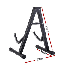 Load image into Gallery viewer, ALPHA Folding Acoustic Guitar Stand Bass Floor Rack Holder Accessories Pack
