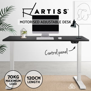Artiss Standing Desk Motorised Electric Adjustable Sit Stand Table Riser Computer Laptop Stand 120cm