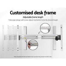 Load image into Gallery viewer, Artiss Standing Desk Motorised Electric Adjustable Sit Stand Table Riser Computer Laptop Stand 120cm