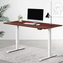 Load image into Gallery viewer, Artiss Standing Desk Sit Stand Table Riser Motorised Electric Height Adjustable Computer Laptop Table Home Office White Frame