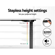 Load image into Gallery viewer, Artiss Standing Desk Sit Stand Riser Motorised Electric Computer Laptop Table 120cm Dual Motor