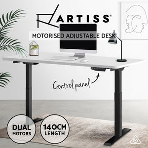 Artiss Standing Desk Sit Stand Table Riser Motorised Electric Computer Laptop Desks Dual Motors 140cm