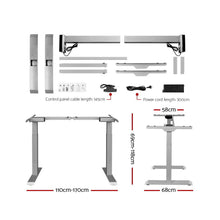 Load image into Gallery viewer, Artiss Standing Desk Motorised Electric Height Adjustable Laptop Computer Table 120cm Dual Motor