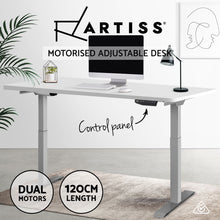 Load image into Gallery viewer, Artiss Standing Desk Motorised Height Adjustable Laptop Computer Table Electric Riser Dual Motor 120cm