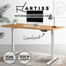 Load image into Gallery viewer, Artiss Standing Desk Sit Stand Riser Motorised Electric Computer Laptop Table Home Office Dual Motor 120cm