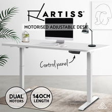 Load image into Gallery viewer, Artiss Standing Desk Motorised Sit Stand Table Height Adjustable Computer Laptop Desks Dual Motors 140cm White