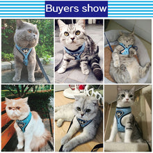 Load image into Gallery viewer, HOOPET Pet Cat Vest Harness Leashes Suit Navy Blue Harness Pet Cat Puppy Pet Cat Small Pet