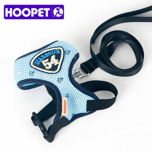 HOOPET Pet Cat Vest Harness Leashes Suit Navy Blue Harness Pet Cat Puppy Pet Cat Small Pet