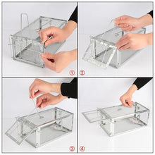 Load image into Gallery viewer, HOT SALE Animal Trap Steel Cage for Small Live Rodent Control Rat Mice Squirrel Mouse cage