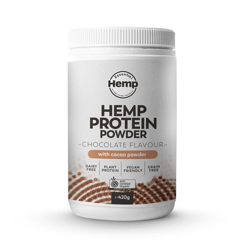 420g Organic Hemp Protein Powder Chocolate Vegan Plant Grain Dairy