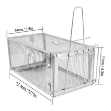 Load image into Gallery viewer, Hot Animal Trap Steel Cage for Small Live Rodent Control Rat Mice Squirrel Mouse cage