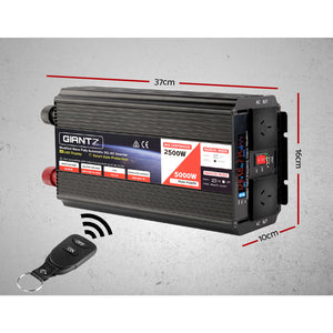 Giantz Power Inverter 2500W or 5000W Modified Sine Wave 12V-240V Camping Caravan