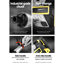 Load image into Gallery viewer, GIANTZ 2400W Jackhammer Commercial Jack Hammer Grade Demolition Concrete
