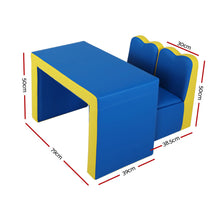 Load image into Gallery viewer, Keezi Kids Sofa Armchair Children Table Chair Couch PU Padded Blue Storage Space