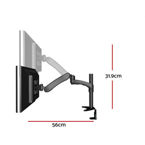 Iwell Monitor Arm Single DMA600 Adjustable Stand Gas Up To 32 Inch Screen Desk