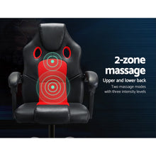 Load image into Gallery viewer, Artiss Massage Office Chair Gaming Computer Seat Recliner Racer Red