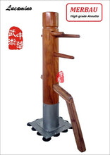 Load image into Gallery viewer, Merbau Rosewood Patent stand column Wing Chun Wooden Dummy,top grade quality professional one punch man kungfu train mook jong