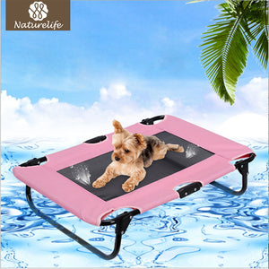 Naturelife Summer Outdoor Dog Bed Breathable Coolaroo Dog Kennel Portable Cool Pet Bed for Dog and Cat Dog House
