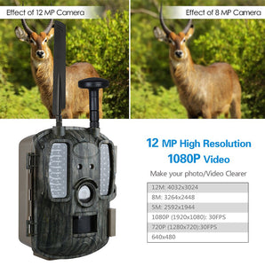 Night Vision 4G Hunting Camera With Solar panel External 3000mAh Photo Traps Scout Wild Trail Camera Hunting Fast Transfering 4G