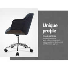 Load image into Gallery viewer, Artiss Wooden Office Chair Computer Gaming Chairs Executive Fabric Grey