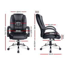 Load image into Gallery viewer, Executive PU Leather Office Desk Computer Chair - Black