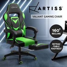 Load image into Gallery viewer, Artiss Office Chair Computer Desk Gaming Chair Study Home Work Recliner Black Green