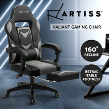 Load image into Gallery viewer, Artiss Office Chair Computer Desk Gaming Chair Study Home Work Recliner Black Grey