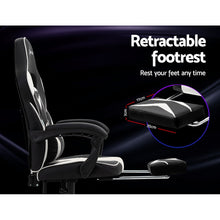 Load image into Gallery viewer, Artiss Office Chair Computer Desk Gaming Chair Study Home Work Recliner Black White