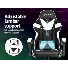Load image into Gallery viewer, Artiss Gaming Office Chairs Computer Seating Racing Recliner Racer Black White