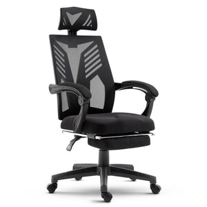 Artiss Gaming Office Chair Computer Desk Chair Home Work Recliner Black