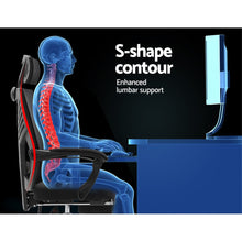 Load image into Gallery viewer, Artiss Gaming Office Chair Computer Desk Chair Home Work Recliner Black
