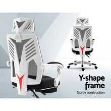 Load image into Gallery viewer, Artiss Gaming Office Chair Computer Desk Chair Home Work Recliner White