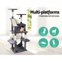 Load image into Gallery viewer, i.Pet Cat Tree 171cm Trees Scratching Post Scratcher Tower Condo House Furniture Wood