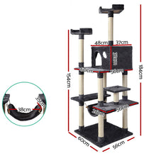 Load image into Gallery viewer, i.Pet Cat Tree 184cm Trees Scratching Post Scratcher Tower Condo House Furniture Wood