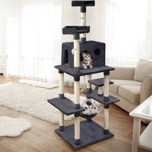 i.Pet Cat Tree 184cm Trees Scratching Post Scratcher Tower Condo House Furniture Wood