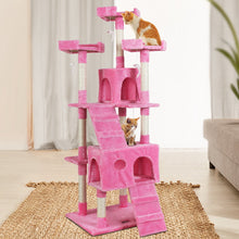 Load image into Gallery viewer, i.Pet Cat Tree 180cm Trees Scratching Post Scratcher Tower Condo House Furniture Wood Pink