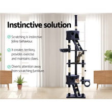 Load image into Gallery viewer, i.Pet Cat Tree 260cm Trees Scratching Post Scratcher Tower Condo House Furniture Wood Blue