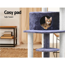 Load image into Gallery viewer, i.Pet Cat Tree 126cm Trees Scratching Post Scratcher Tower Condo House Furniture Wood