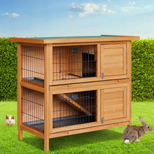 Load image into Gallery viewer, i.Pet 2 Storey Wooden Rabbit Hutch
