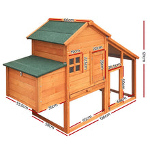 Load image into Gallery viewer, i.Pet 171cm Wide Wooden Chicken Coop