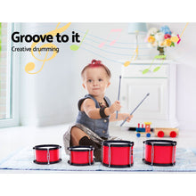 Load image into Gallery viewer, Keezi Kids 7 Drum Set Junior Drums Kit Musical Play Toys Childrens Mini Big Band