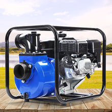 "Load image into Gallery viewer, Giantz 8HP 3"" Petrol Water Pump Garden Irrigation Transfer Blue"