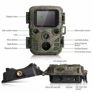 Photo-trap Thermal Imagers For Hunting Scout Mini Camera Chasse 12MP 1080P Night Vision Wildcats Hunting Camera Trap With LCD . Solar panel to match this camera is also available at extra cost