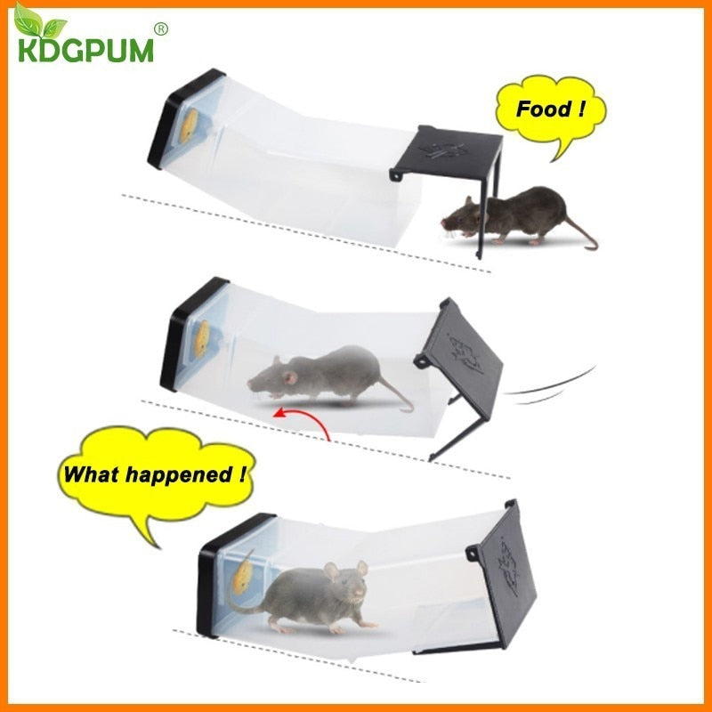 Reusable Mouse Cage Automatic Catch Rat Mice Mouse Trap Big Size Mousetrap Rats Killer Muizenval Rodent Catcher Pest Control