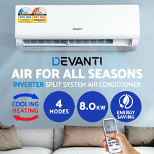 Load image into Gallery viewer, Devanti 8.0KW Split System Reverse Cycle Air Conditioner