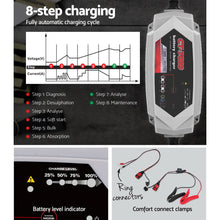 Load image into Gallery viewer, Smart Battery Charger 7A 12V 24V Automatic SLA AGM Car Truck Boat Motorcycle Caravan