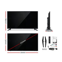 "Load image into Gallery viewer, NEW DEVANTI 40"" Inch Smart LED TV 2K Full HD LCD Slim Screen Black"